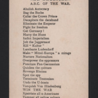 An American ABC of the war