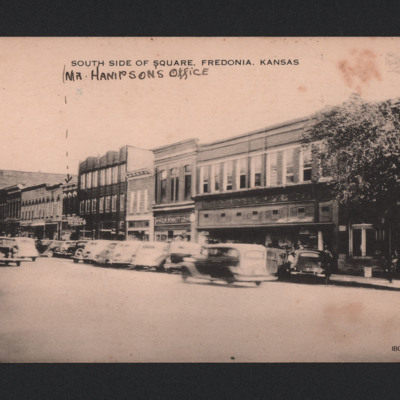 South side of square, Fredonia, Kansas