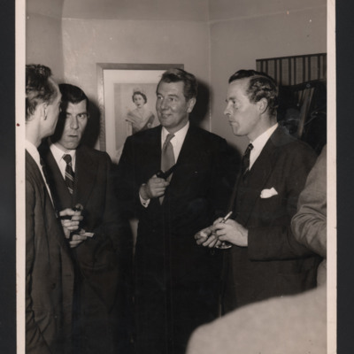 Michael Redgrave and men in conversation