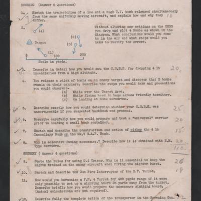 No. 60 Air Bombers Course - Final Examination
