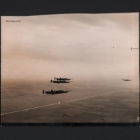 Four Lancasters in flight<br /><br />