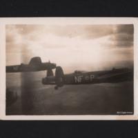 Two Lancasters in flight